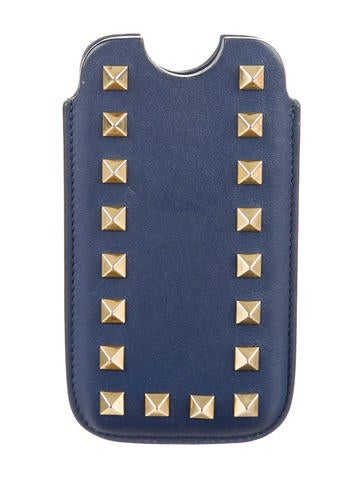 Rockstud Leather Phone Case