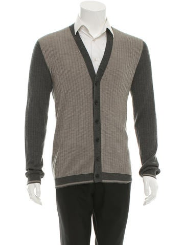 Valentino Striped Cashmere Cardigan None