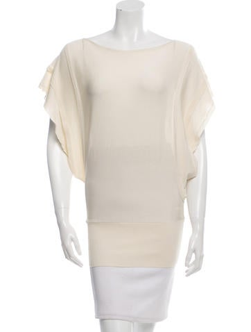 Valentino Tiered Bateau Neck Top w/ Tags None