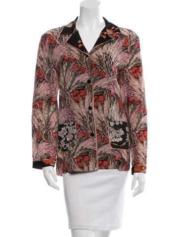 Valentino Floral Print Silk Top w/ Tags None