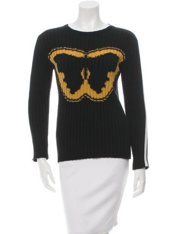 Valentino Super-H Intarsia Virgin Wool Sweater w/ Tags None