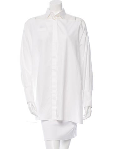 Valentino Oversize Button-Up Top w/ Tags None