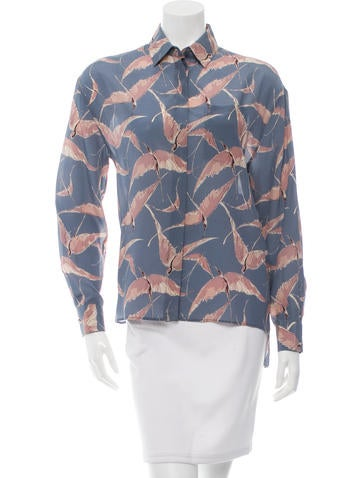 Valentino Printed Silk Top None