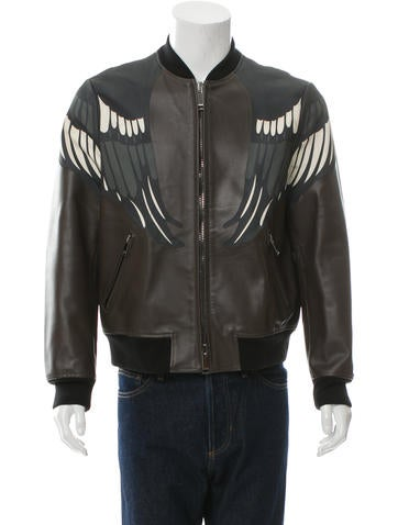 Valentino Leather Bomber Jacket w/ Tags None