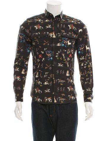 Valentino Printed Military Shirt w/ Tags None