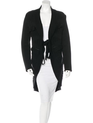 Valentino Virgin Wool Long Sleeve Cardigan None