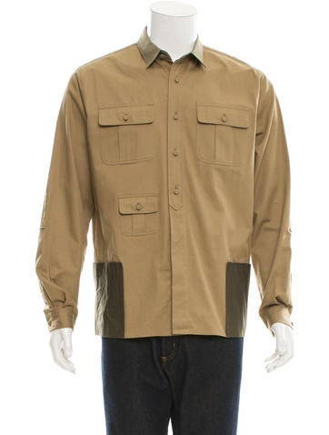 Valentino Woven Utility Shirt w/ Tags None