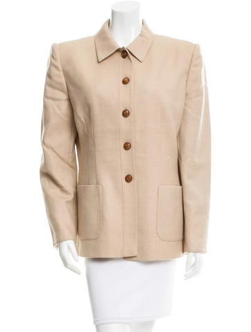 Valentino Wool & Cashmere-Blend Jacket None