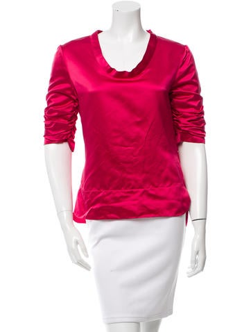 Valentino Silk Ruched Top None