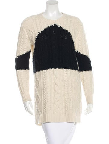 Valentino Virgin Wool Cable-Knit Sweater None