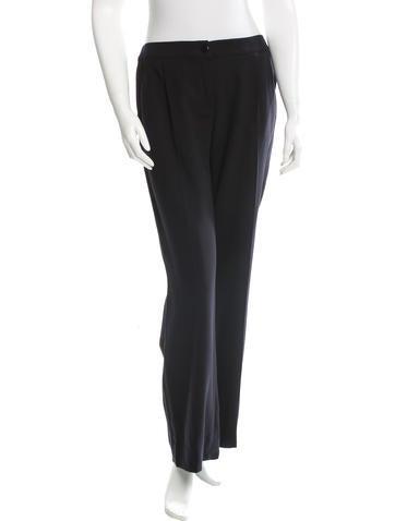 Valentino Virgin Wool Wide-Leg Pants None
