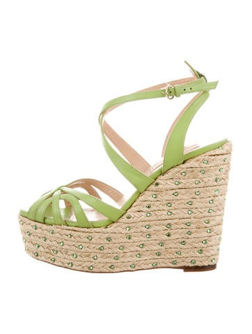 Valentino Espadrille Wedge Sandals None
