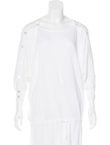 Valentino Button-Up Knit Dress None