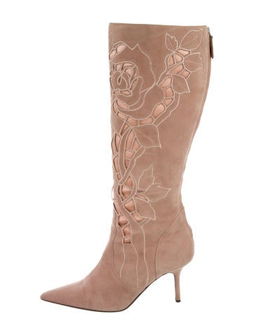 Valentino Cutout Suede Boots