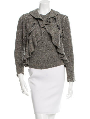 Valentino Wool Donegal Cardigan Set None