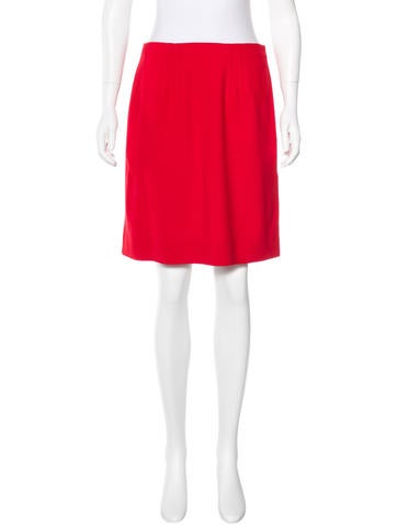 Valentino Virgin Wool A-Line Skirt None