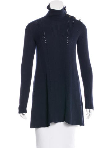 Valentino Stud-Accented Virgin Wool Sweater None