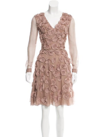 Valentino Embellished Silk Dress None