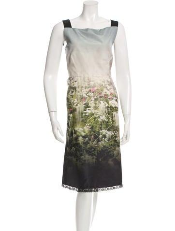 Valentino A-Line Silk Dress None
