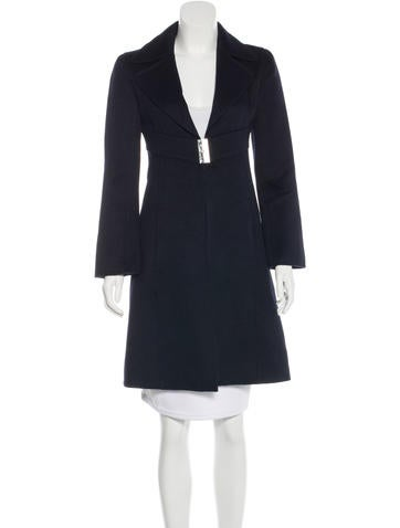 Valentino Virgin Wool & Cashmere-Blend Knee-Length Coat None