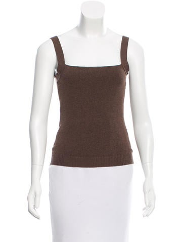 Valentino Sleeveless Square Neck Top None