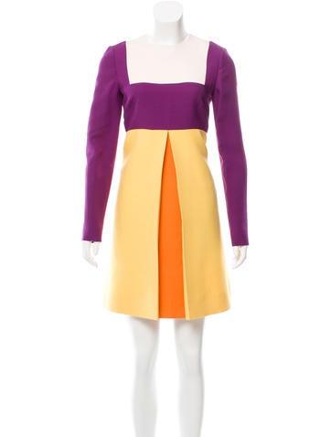 Valentino Wool & Silk-Blend Dress w/ Tags