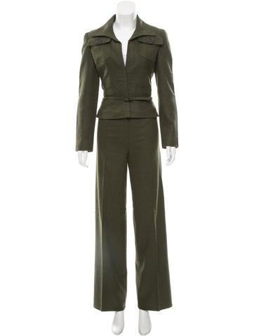 Wool Wide-Leg Pantsuit