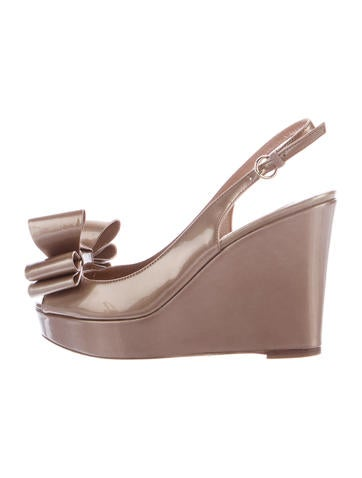 Valentino Slingback Bow Wedges None