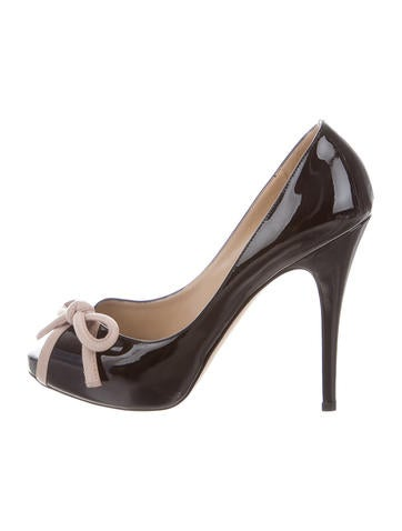 Valentino Patent Leather Bow Pumps None