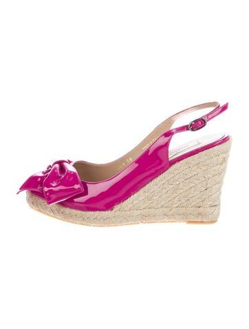 Valentino Patent Leather Espadrille Sandals None