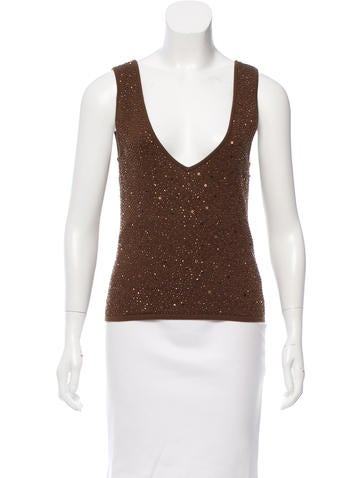 Valentino Embellished Wool Top None