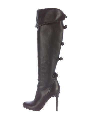 Valentino Over-The-Knee Bow Boots