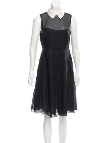 Valentino Silk Sheath Dress None