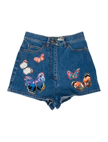 Jamaica Butterfly Denim Shorts w/ Tags