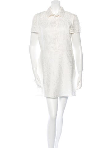 Valentino Lace A-Line Mini Dress None