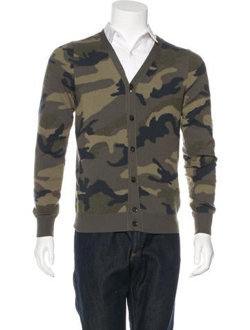 Valentino Camouflage Cashmere Cardigan None