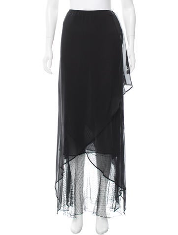 Valentino Silk Maxi Skirt None