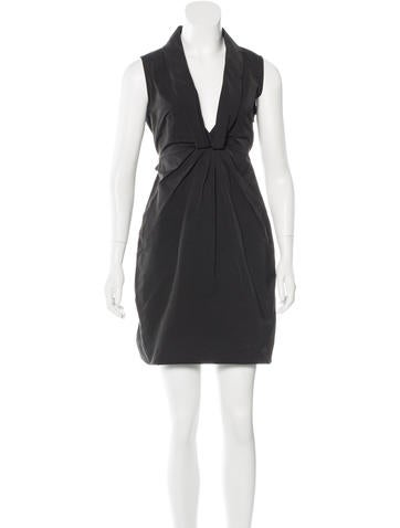 Valentino Bow-Embellished Sheath Dress None