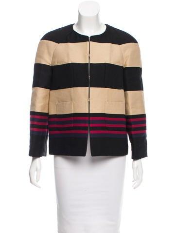 Valentino Lightweight Striped Jacket w/ Tags