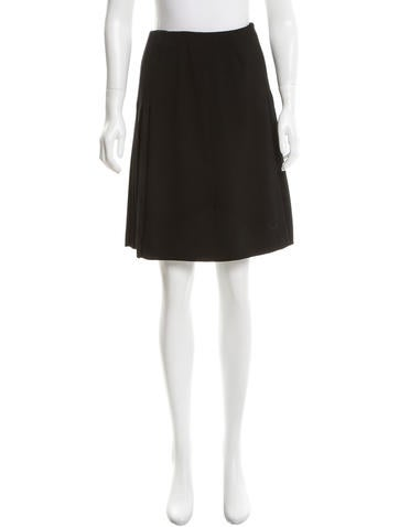 Valentino Virgin Wool Pleated Skirt