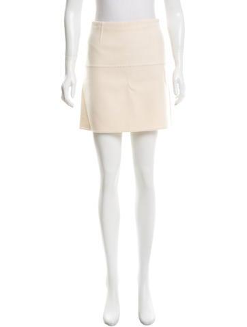Valentino Wool Mini Skirt None