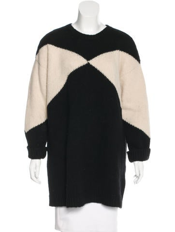 Valentino Virgin Wool Oversize Sweater None
