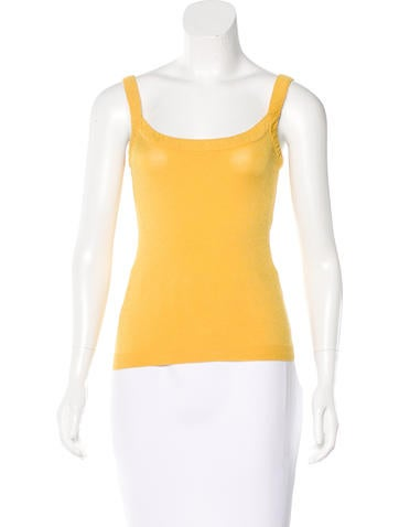 Valentino Sleeveless Rib Knit Top None