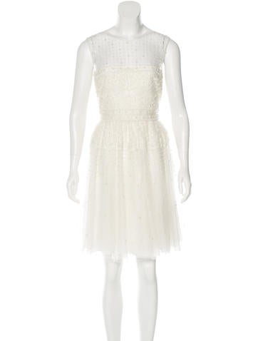 Valentino Embellished A-Line Dress None