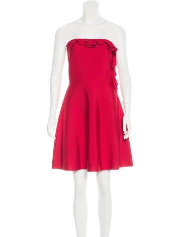 Valentino Strapless A-Line Dress None