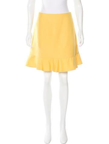Valentino Flounce Mini Skirt None