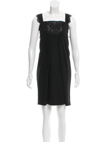 Valentino Lace Bodice Sleeveless Dress