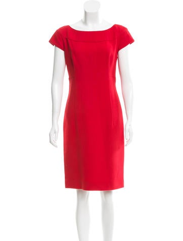 Valentino Wool Sheath Dress None