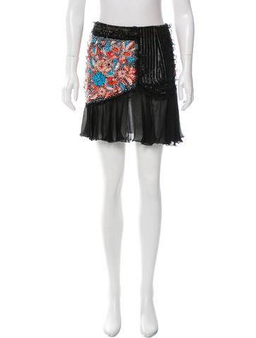 Valentino Bead-Embellished Skirt None