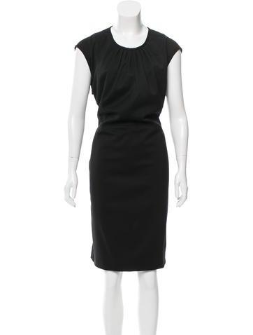 Valentino Wool Midi Dress None